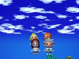 灯台のぼり4人