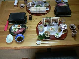 テーブルの様子