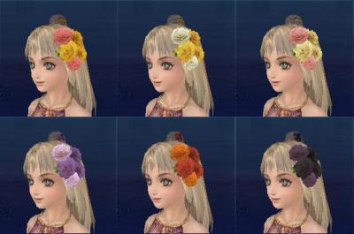 バラの髪飾り色違い