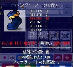ハンターブーツ(青)