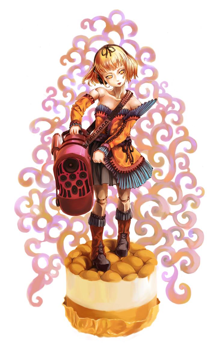 オルゴーラーの少女人形