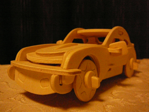 木製プラモ ポルシェ