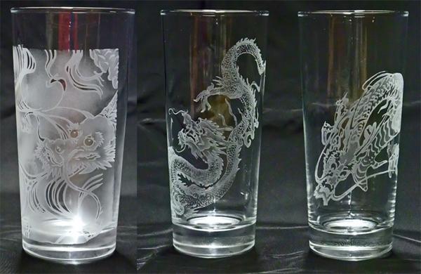 龍のグラス
