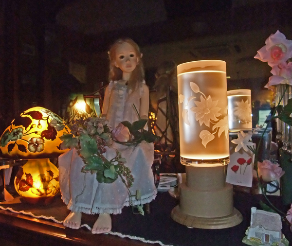 花瓶のランプ
