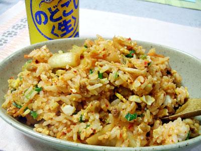 090720納豆キムチチャーハン