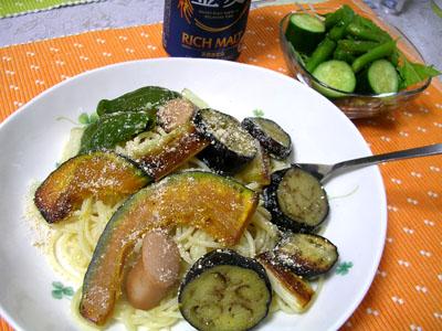 090811夏野菜の冷たいパスタ