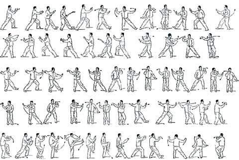 太極拳・套路の図