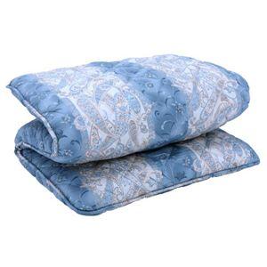 抗菌防臭防ダニ四層式ボリューム敷き布団 シングル ブルー