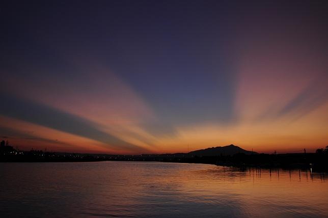 百 齡橋の夕日(4)