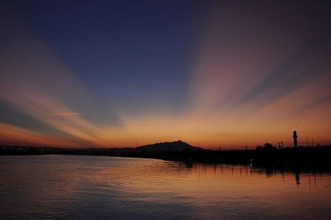 百 齡橋の夕日(2)