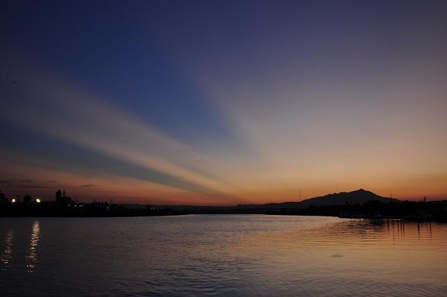 百 齡橋の夕日(8)