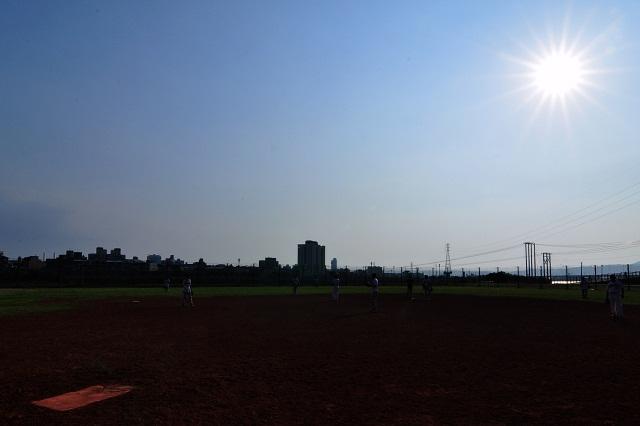 炎天下での練習(2)