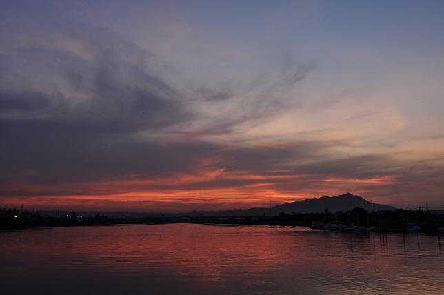 百齡橋の夕焼け(2)
