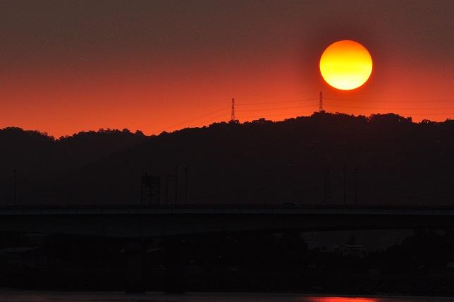 百齡橋河川公園の日没(1)