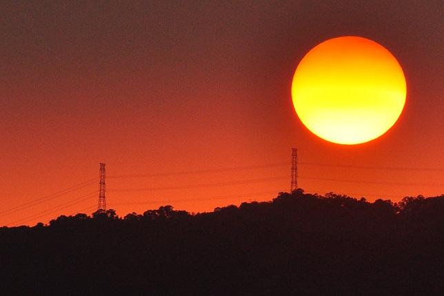 百齡橋河川公園の日没(3)