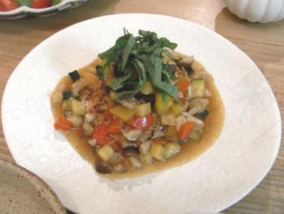 豆腐ハンバーグ カラフルあんかけ 2009.7.17