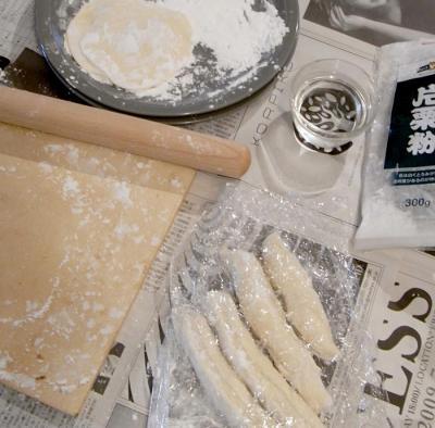 手作り餃子!皮作り。2009.7.21