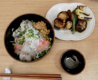 簡単ゴハン!海鮮丼と野菜の照り焼き 2009.7.27
