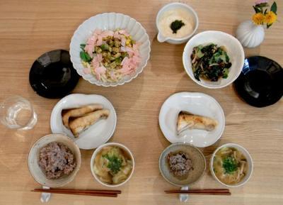 お魚と野菜たっぷりごはん!