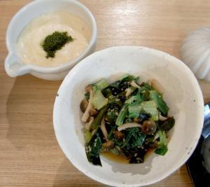 お魚と野菜たっぷりごはん! とろろ芋とお酢のもの 2009.7.31