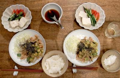 野菜たっぷり豚肉味噌焼き 2009.8.6