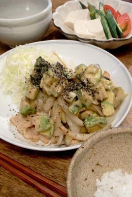 野菜たっぷり豚肉味噌焼き! 2009.8.6
