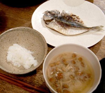 真アジの干物定食 2009.8.12