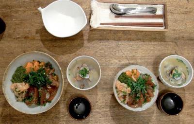 カツオとサーモンの海鮮どんぶり 2009.8.16