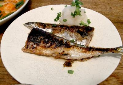 秋刀魚の塩焼き 2009.8.17