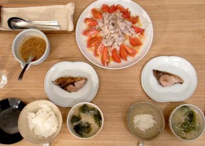 肉と魚、さっぱりな晩ご飯~。2009.8.19