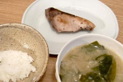 ブリの塩焼き定食 2009.8.19