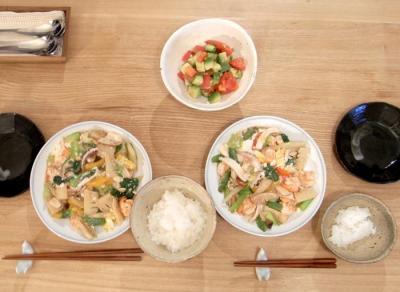 イカと海老とたっぷり野菜の旨煮 2009.8.20