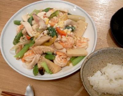 イカと海老とたっぷり野菜の旨煮です! 2009.8.20