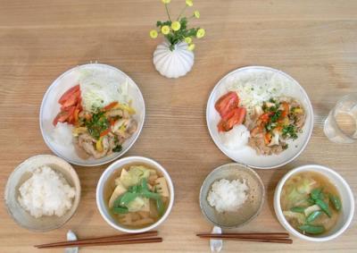 生姜たっぷり、豚の生姜焼き 2009.8.21