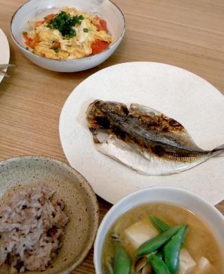 アジの干物定食! 2009.8.26