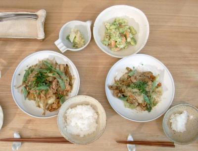 野菜たっぷり、回鍋肉。2009.9.1