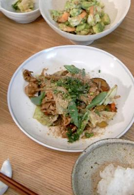 野菜たっぷり、回鍋肉。 2009.9.1