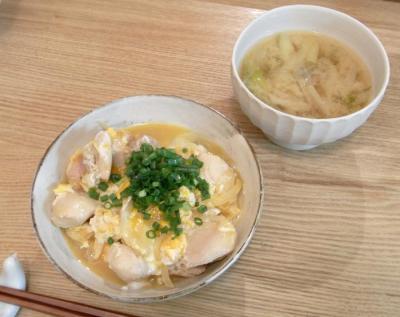 親子丼とお味噌汁 2009.9.11