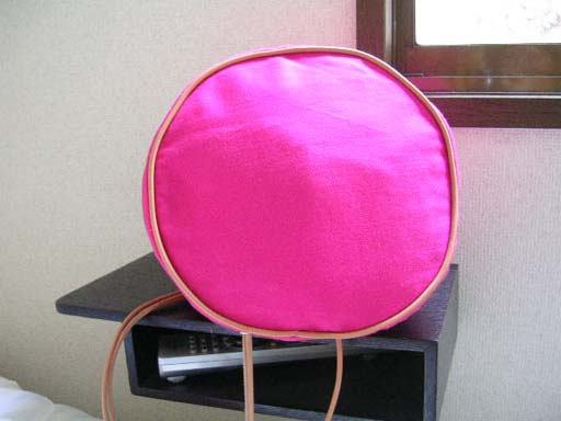 ピンク巾着底