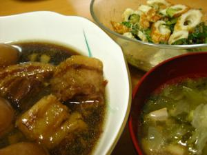 豚の角煮 スープ 酢物