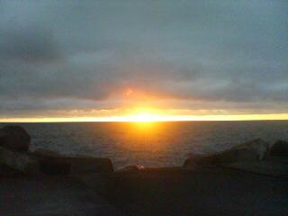 小金崎の夕日
