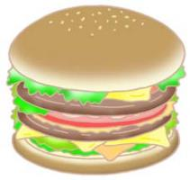 汉堡包 快餐食品 汉堡牛肉饼 便饭