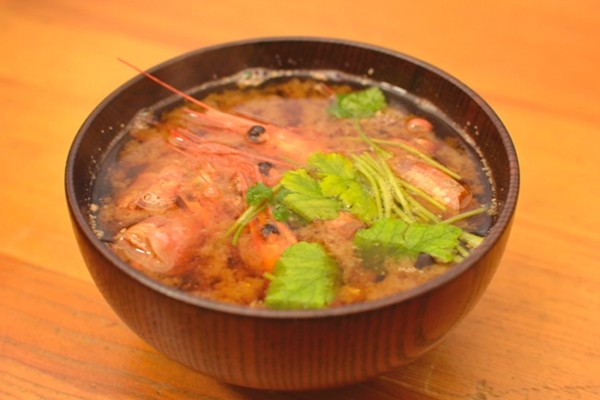 海老の味噌汁(ちらし寿司