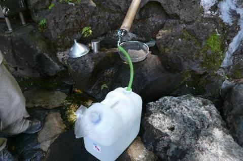 不動尊の水