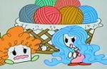 スプーンひめ・毛糸で遊ぶ