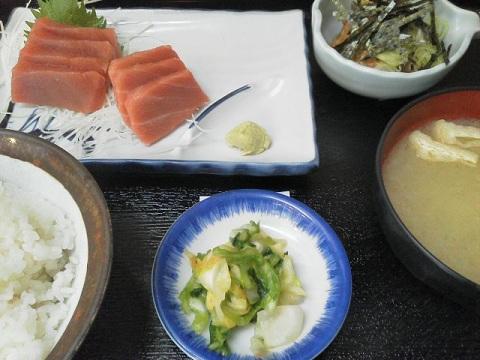 刺身定食+納豆