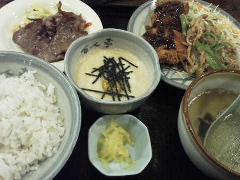 百人亭の定食
