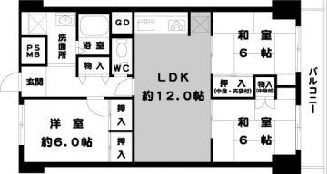姫里スカイハイツ7階