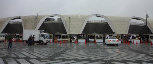東京ラーメンショー 開店前のブース
