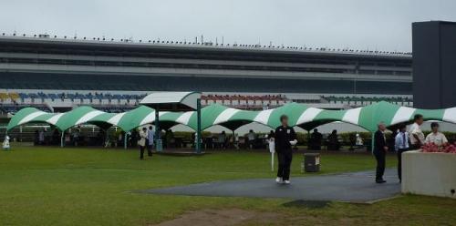 『らーめん屋台祭』@中山競馬場の客席テント
